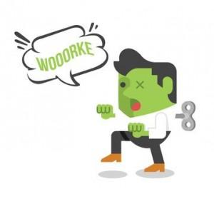 Zombie businessman. Vector flat illustration
